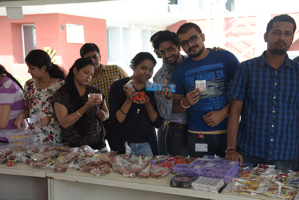 Supporting the cause of cancer patients through Diwali Stall